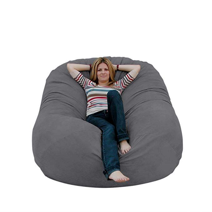Cozy Sack 6 Feet Bean Bag Chair Large Grey Review Bean Bag Chair Bean Bag Design Modern Bean Bags