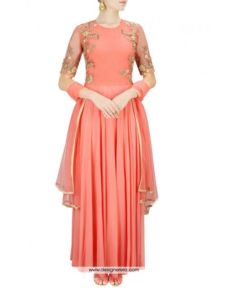 de-charming-peach-colored-designer-salwar-kameez-on-georgette-metal-embellishments