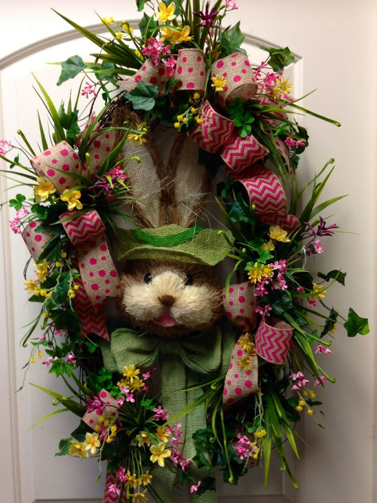 17 Best Images About Easter Wreath Wall Arrangements On