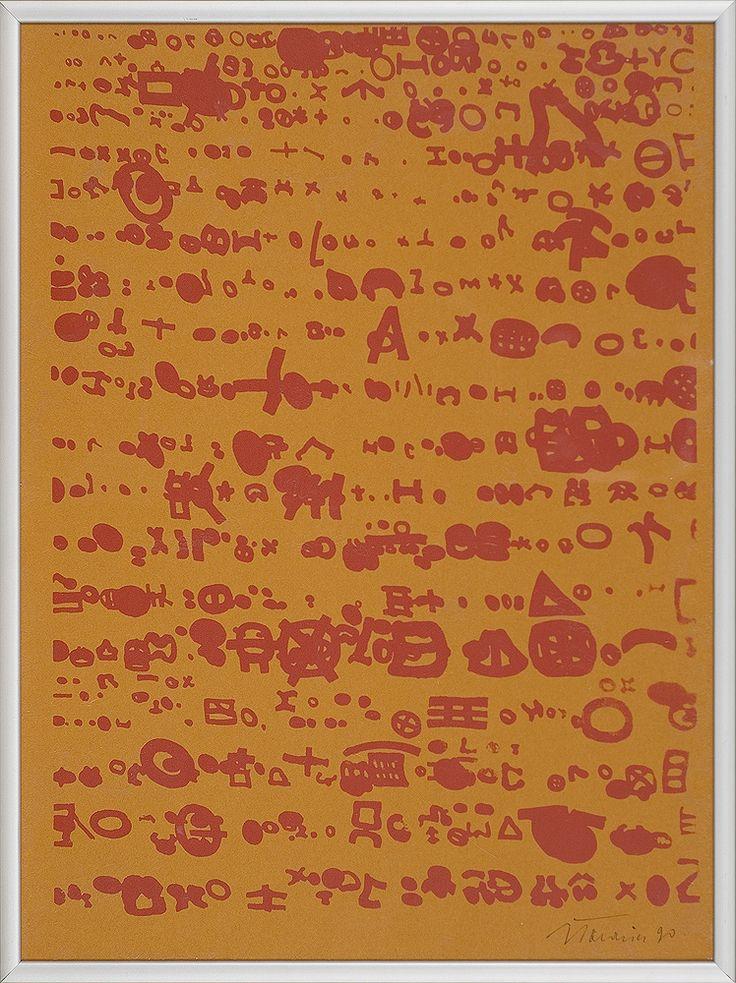 Jan Tarasin | <i>ZNAKI, 1990</i> | serigrafia barwna, papier | 40 x 30 cm