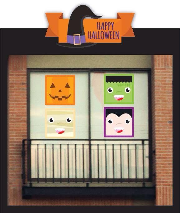 Autoadhesivos para decorar tu ventana en Halloween