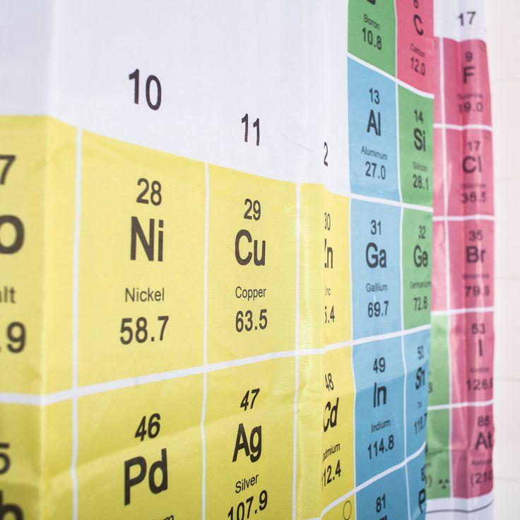 Periodiek systeem der elementen Douchegordijn Ik heb geen douchegordijn nodig. Maar als het wel zo was, zou ik deze willen hebben.