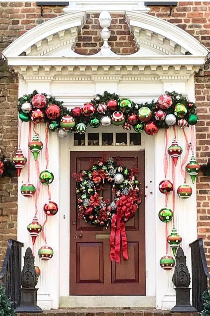 25+ Front door xmas decorations trends