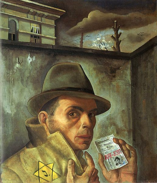 Félix Nussbaum, Autoportrait au passeport juif, 19431904 1944, German Jewish, Jewish Identity, Autoportrait Au, Identity Cards, Self Portraits, Jewish Art, Felix Nussbaum, 1943