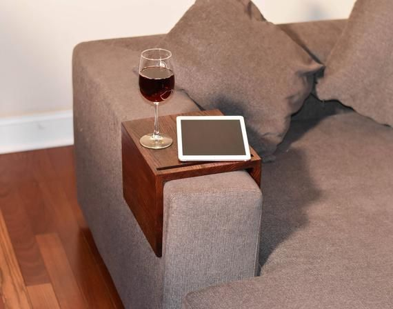 Couch Table Couch Arm Table Custom Sofa Arm Tray Handmade Wooden Couch Arm Tray Wood Device Holder Wooden Device Stand Wooden Couch Couch Arm Table Couch Table
