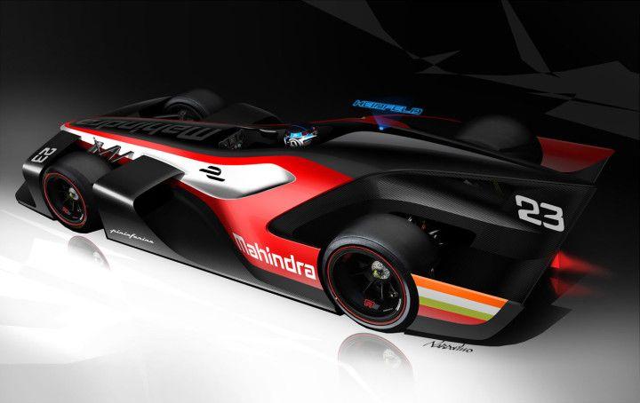 Pininfarina-Mahindra Formula E Concept Design Sketch Render