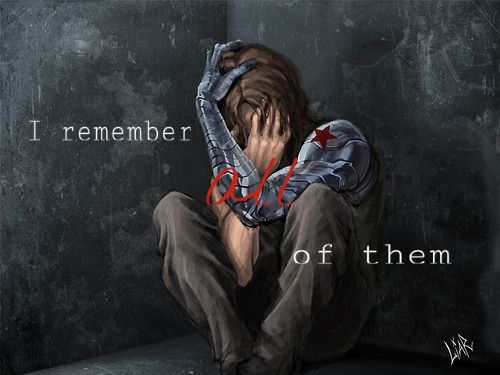 "Tony: ""Do you remember them?!"" // Bucky: ""I remember all of them."" Edit by @Danae Berkgren"