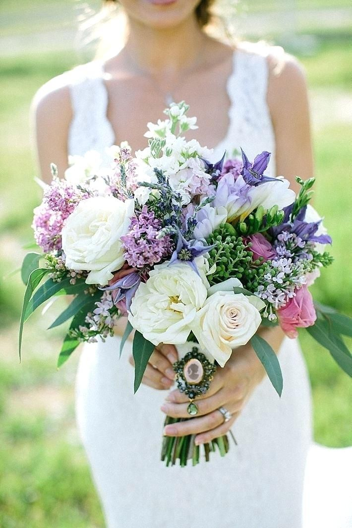 Wedding Flowers Purple Light Purple Wedding Bouquets Photo 1 In