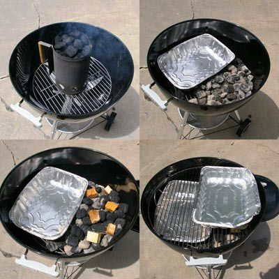 handy directions for turning your charcoal grill into a smoker, did ribs following this recipe and they were awesome!!!! next up smoked salmon!