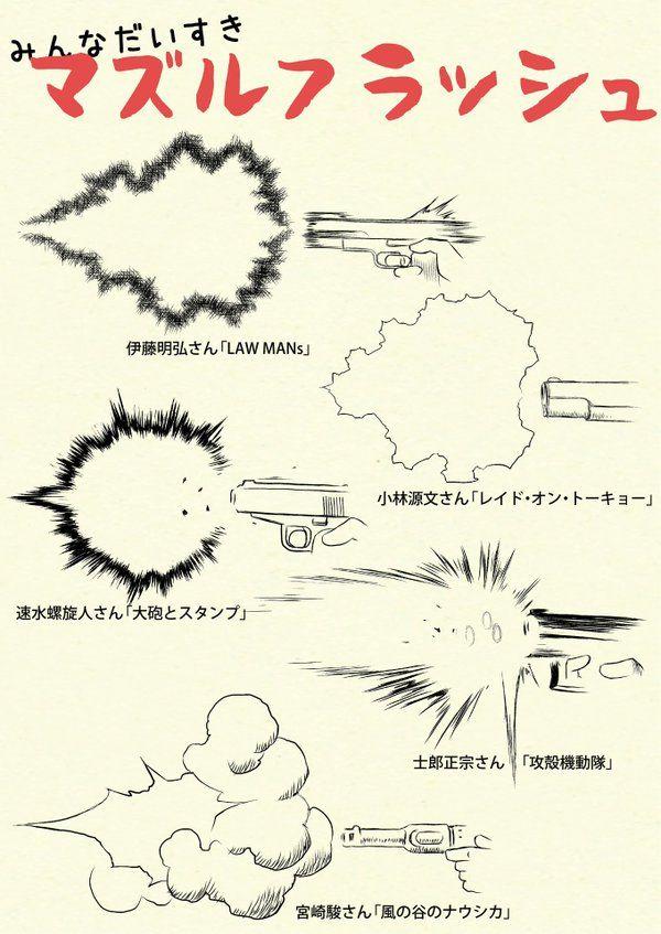 埋め込み Gun explosion powder front end of muzzle, barrel