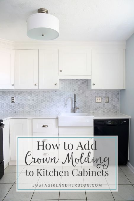 How To Add Crown Molding To Kitchen Cabinets Easy Diy I