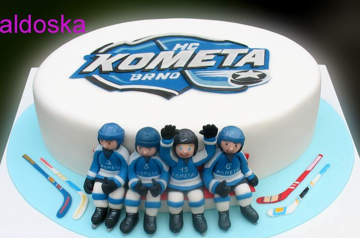 Hockey team - Cake six-year-old hockey player and his team-mates