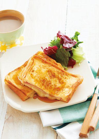 ハムとチーズのお食事フレンチトースト のレシピ・作り方 │ABCクッキングスタジオのレシピ | 料理教室・スクールならABCクッキングスタジオ