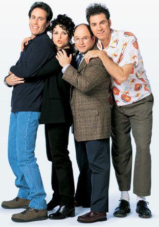 Jerry Seinfeld, Elaine Benes (Julia Louis-Dreyfus), George Costanza (Jason Alexander), Cosmo Kramer (Michael Richards).