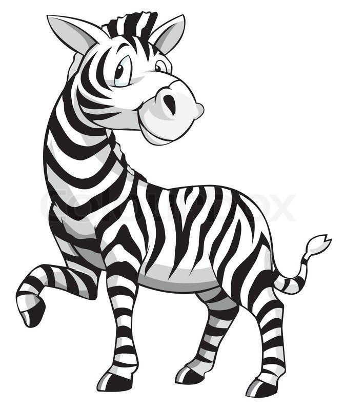 Zebra Cartoon | Vector | Colourbox
