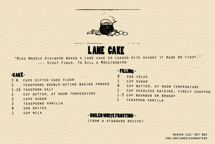 Harper Lee ~ The Cake That Made Maycomb Famous: The Lane Cake - American Masters