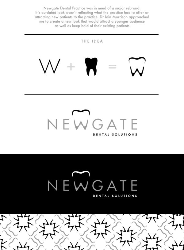 Newgate Dental Logo Design by Rhian Tarling, via Behance