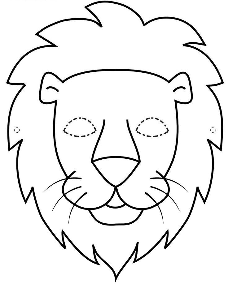 Plantilla de màscara de lleó