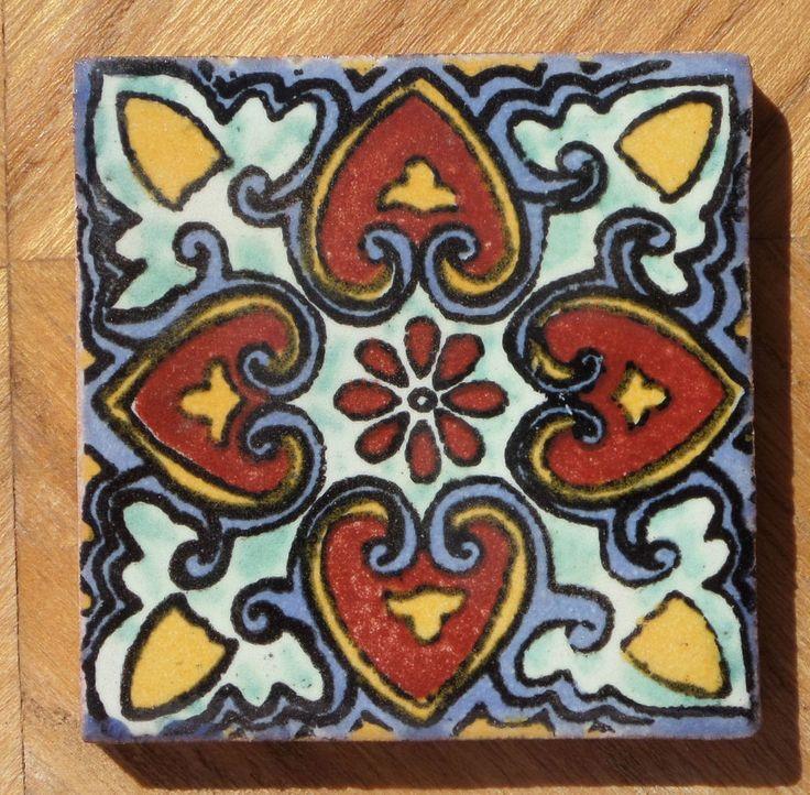 10 Talavera Mexican 4 Tile Pottery Hand Made Clic Traditional Tiles Mexico