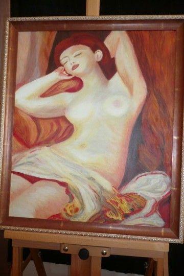 naakte vrouw olieverf