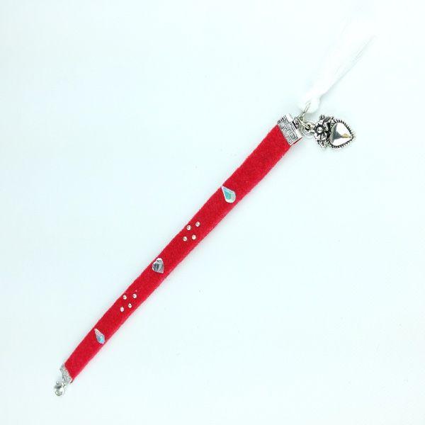 Sweet Felt Rosso bracelet only by Daffodil Bijoux