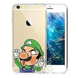 HäNä A heurté le gel de silice plombier joli mur de Mario souple transparente coque ()(iPhone 5/5S/SE,Vert)