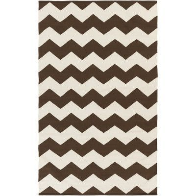 Artistic Weavers Vogue Brown Chevron Collins Area Rug Rug Size: 9' x 12'