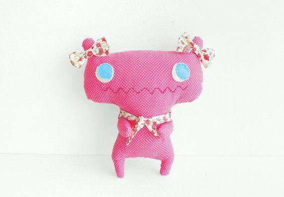 Mon Mignon - Handmade monster soft toy - Cute alien plush - OOAK plush doll - Modern nursery decor - One of a kind baby shower gift for girl