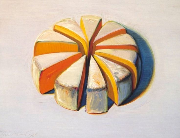Cheese Slices, Wayne Thiebaud, 1986. #helloorange