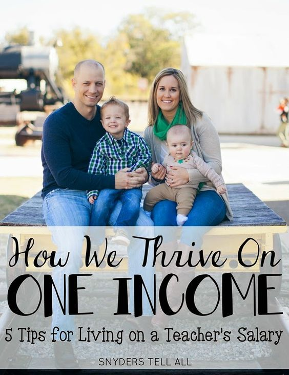 Tips for living on one income.  Living on a Teacher's salary while being debt free and saving for college and retirement.