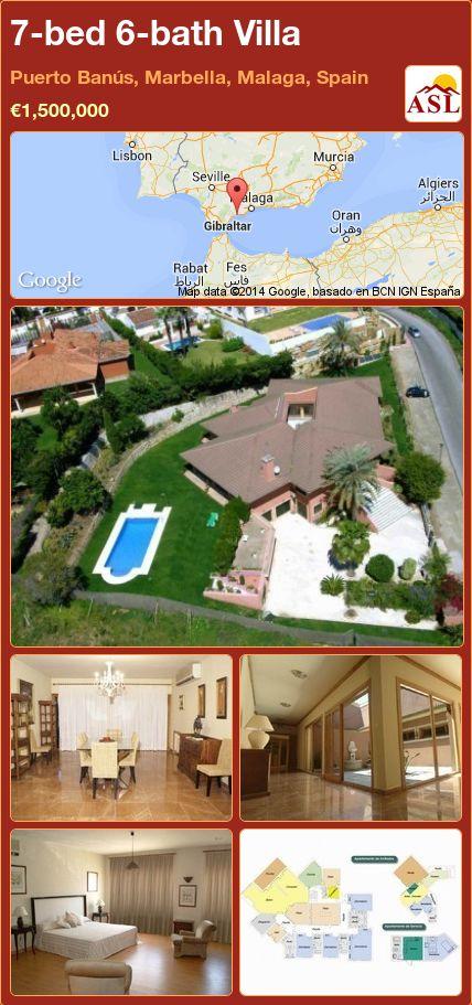 7-bed 6-bath Villa in Puerto Banús, Marbella, Malaga, Spain ►€1,500,000 #PropertyForSaleInSpain