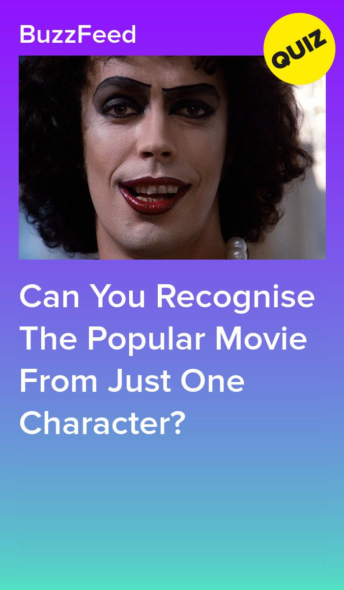 Can You Recognise The Popular Movie From Just One Character Movie Quizzes Horror Movie Quotes Movie Character Quiz