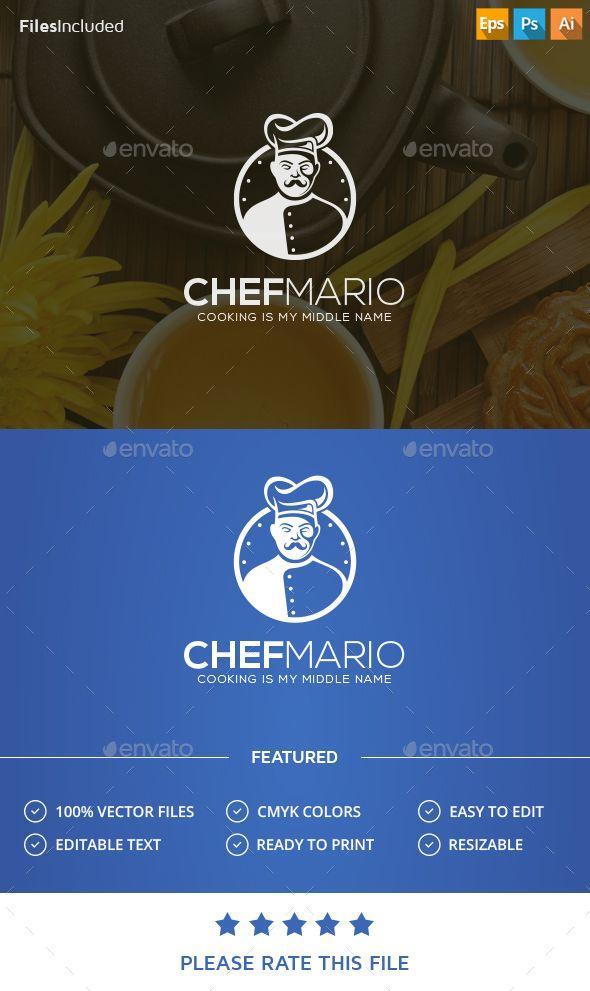 Chef Logo Design Template Vector #logotype Download it here: http://graphicriver.net/item/chef-logo/13932752?s_rank=128?ref=nexion