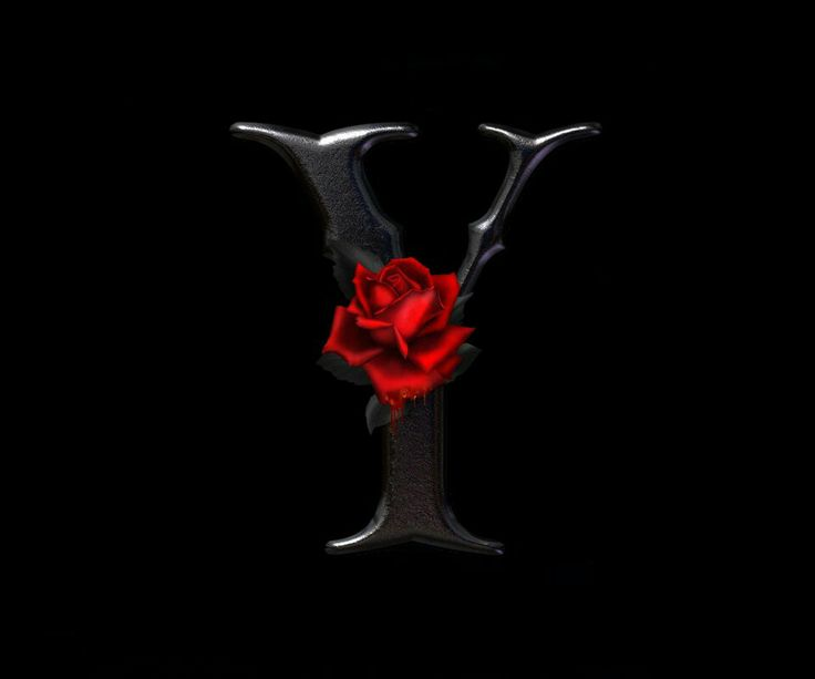 "THE LETTER Y~BLACK ROSE | I L♥vє thє lєttєr ""Y"" | Pinterest"