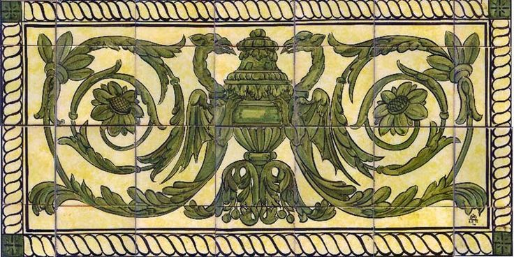 17 Best Ideas About Victorian Tile Murals On Pinterest