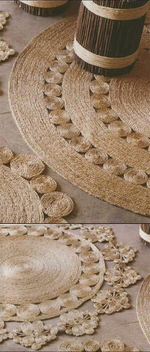 Interesting project for Rustic Rug Of Rope