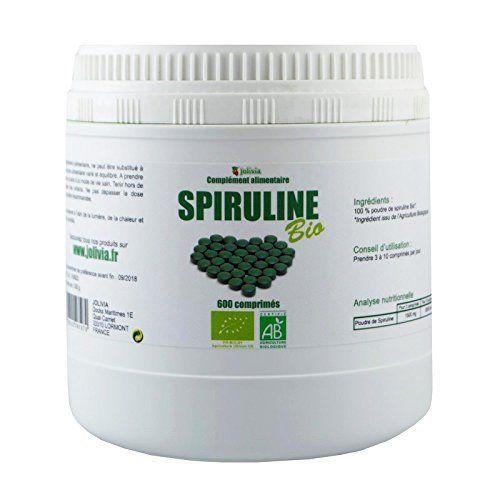 Spiruline Ecocert 600 comprimés 500 mg: Issu de l'Agriculture Biologique Pot de 600 comprimés Comprimé de 500 mg