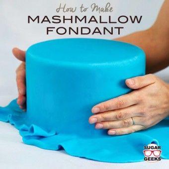 LMF marshmallow fondant recipe for amazing cake designs.