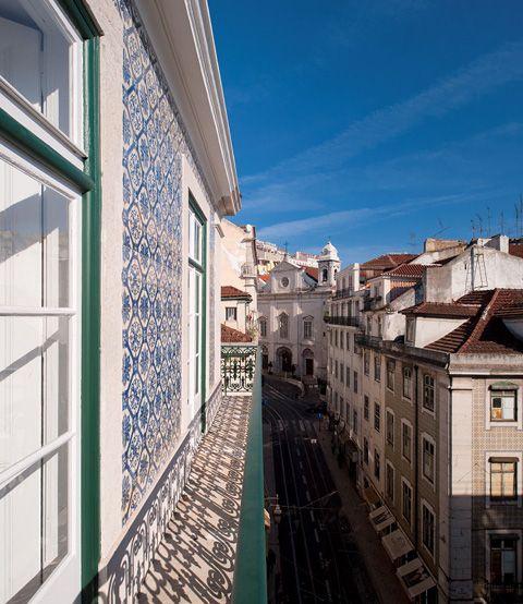The old Art Nouveau building in Lisbon