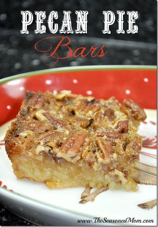 Pecan Pie Bars  www.TheSeasonedMom.com