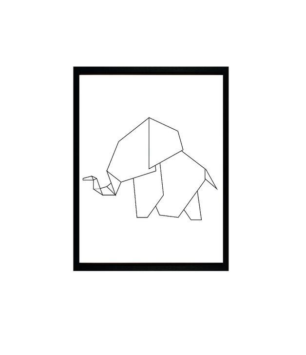 Origami Elephant - Print