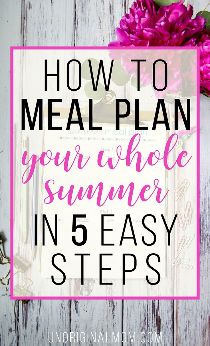 Plan out your dinners for the WHOLE summer at one time - it's easier than you think! Plus there's a free printable summer meal planner and a free google doc to get organized. | summer meal planning | free meal planner | printable meal planner | organized summer | summer plans