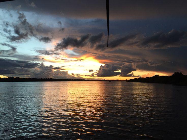 Sunset over Zambezi