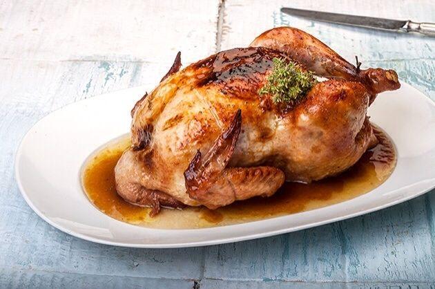 Γλυκόξινο κοτόπουλο στη γάστρα