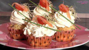 Recette de cupcakes saumon & ciboulette