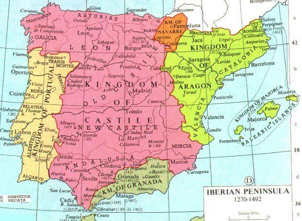 Mapa de España (1492 CE)