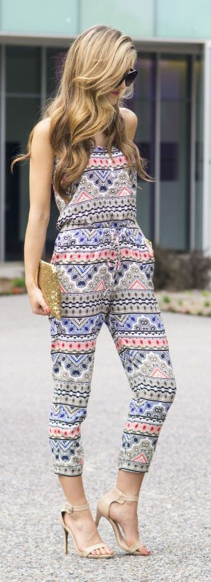 Tribal Print Jumpsuit Styling by Chic Street Style