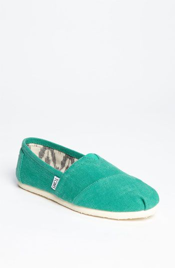 i need these green toms! TOMS 'Classic - Earthwise' Slip-On (Women) | Nordstrom