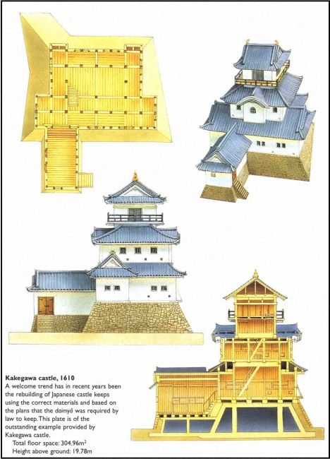 Kakegawa castle 1610 historia azji pinterest for Castle architecture design