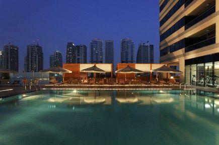 top Italian design swimming pool at 5 star hotel Dubai UAE